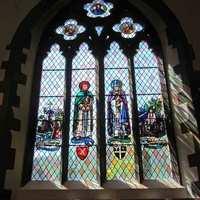 <p>St Paul and St Augutine in the Chesshyre Window St Pauls Church</p>