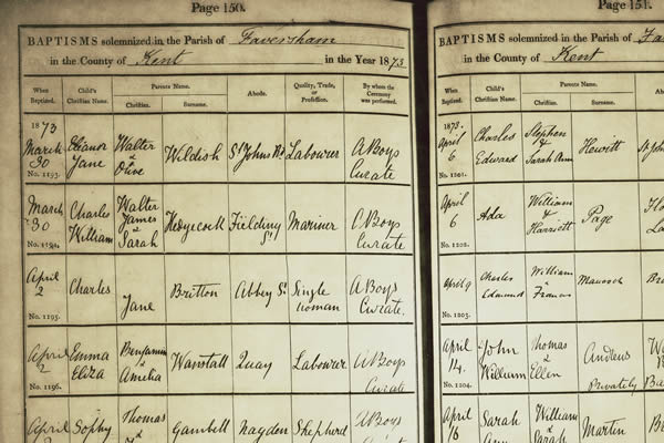 Kent parish registers